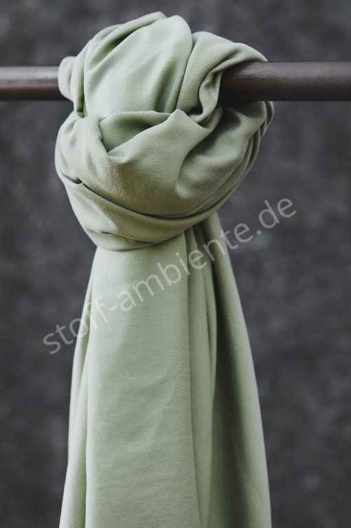 TENCEL™ Lyocell Meet Milk Smooth Drape Twill Soft Mint