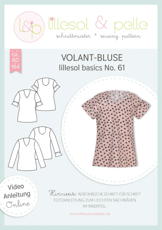 Schnittmuster lillesol & pelle Basics Volant Bluse No. 1 Kinder